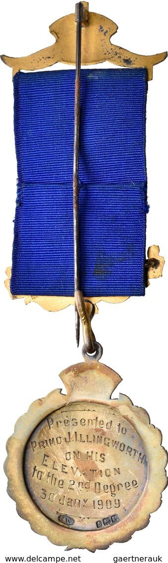 Orden & Ehrenzeichen: Großbritannien: Bronze-Orden, Teil Emailliert, Vergoldet, Verliehen 1909, Der - Militaria