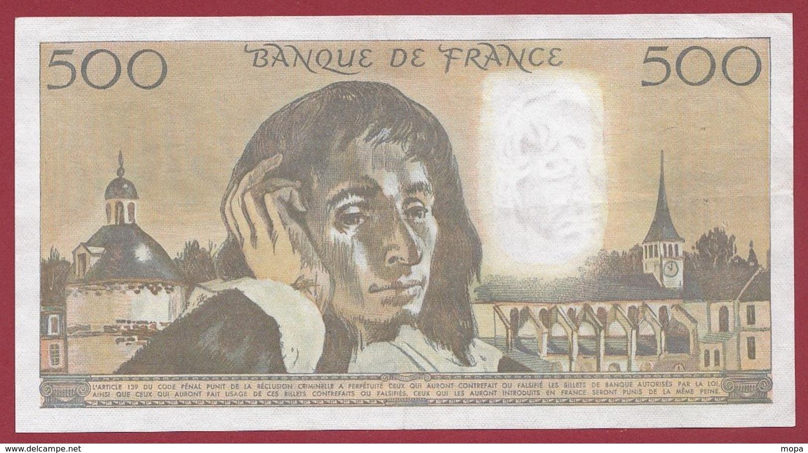 """500 Francs """"Pascal"""" Du 06/02/1986.E--- VF/SUP---ALPH R.239 - 500 F 1968-1993 ''Pascal''"""