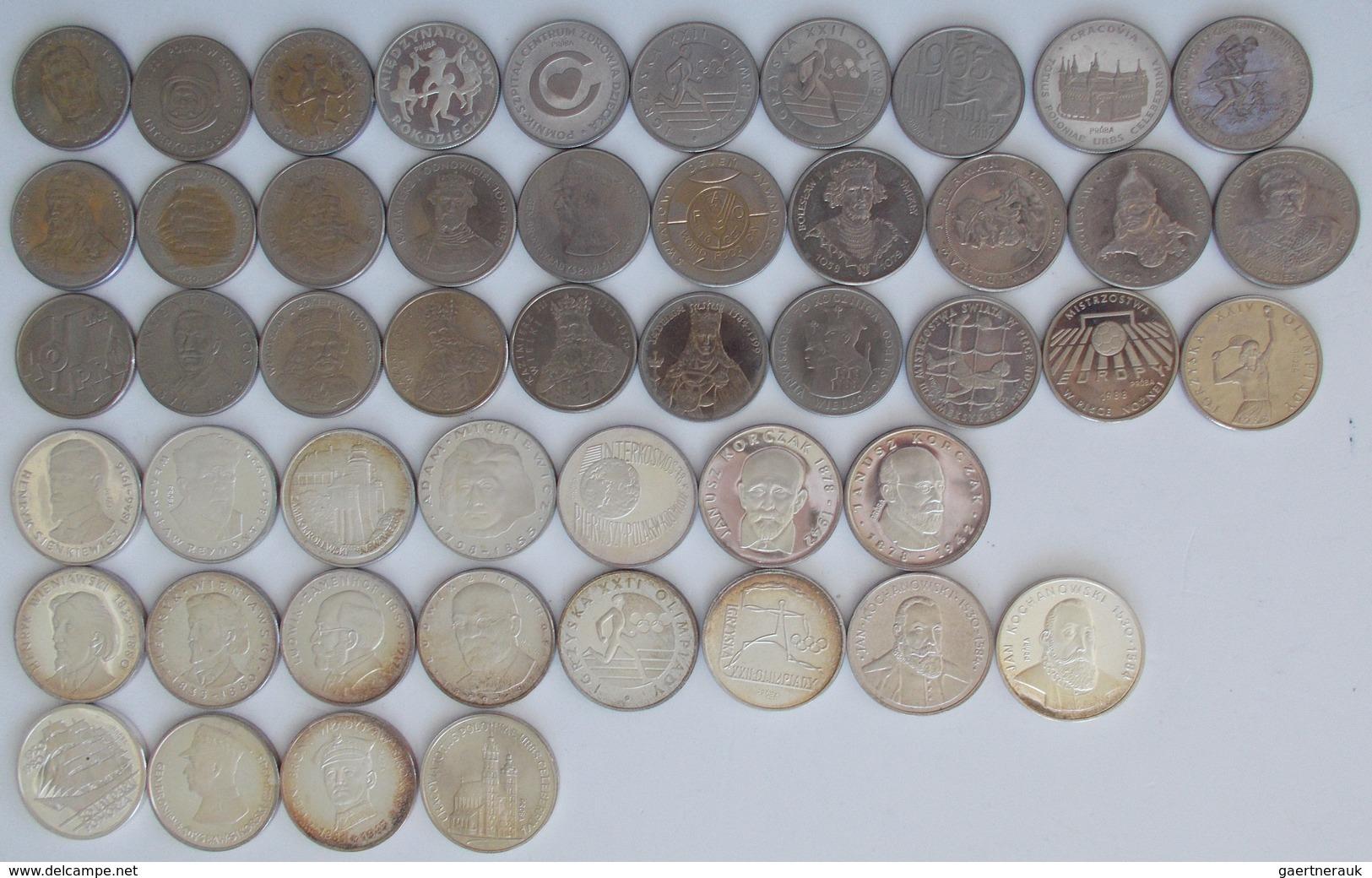 Polen: Sammlung 49 Diverse Münzen Aus Polen, Dabei 30 Münzen Aus CuNi Sowie 19 Aus Silber. Nominale - Pologne