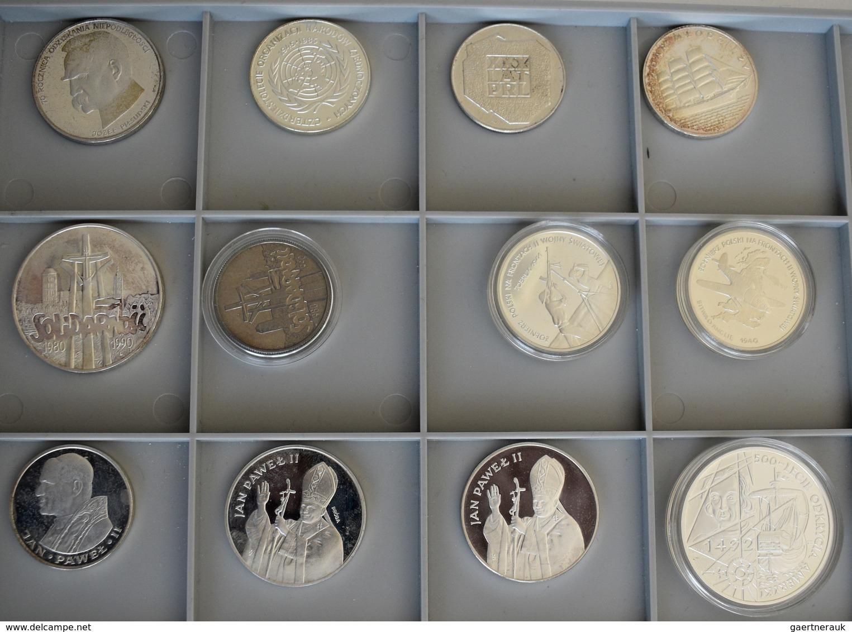 Polen: Sammlung 12 Diverse Silbergedenkmünzen Aus Polen, Diverse Anlässe Und Nominale. Dabei 3 Münze - Pologne