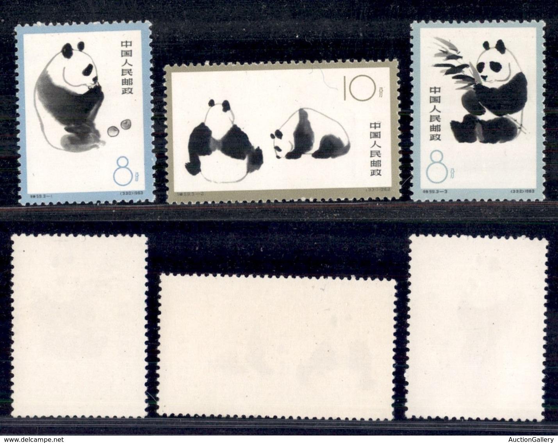 CINA - 1963 - Panda (736/738) - Serie Completa - Gomma Integra (170) - Francobolli