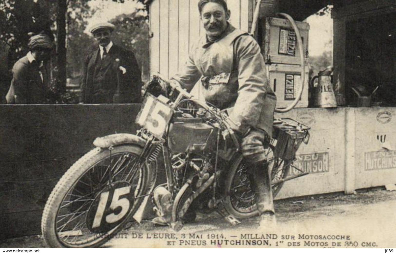 Sport - Motos - Circuit De L'Eure - Milland Sur Motosacoche Et Pneu Hutchinson - C 9219 - Motos
