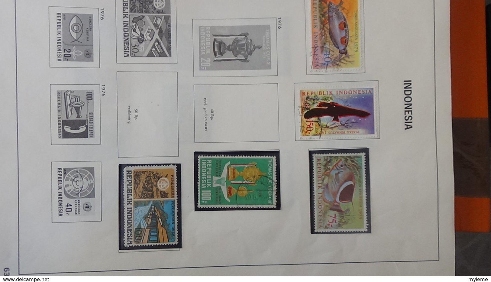 Collection Timbres D'INDONESIE Idéal Pour Thématiques A Saisir !!! - Timbres