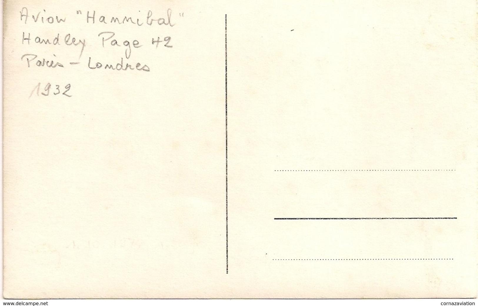 """Aviation - Avion Handley Page 42 """"Hannibal"""" Ligne Paris-Londres - 1932 - 1919-1938: Entre Guerres"""