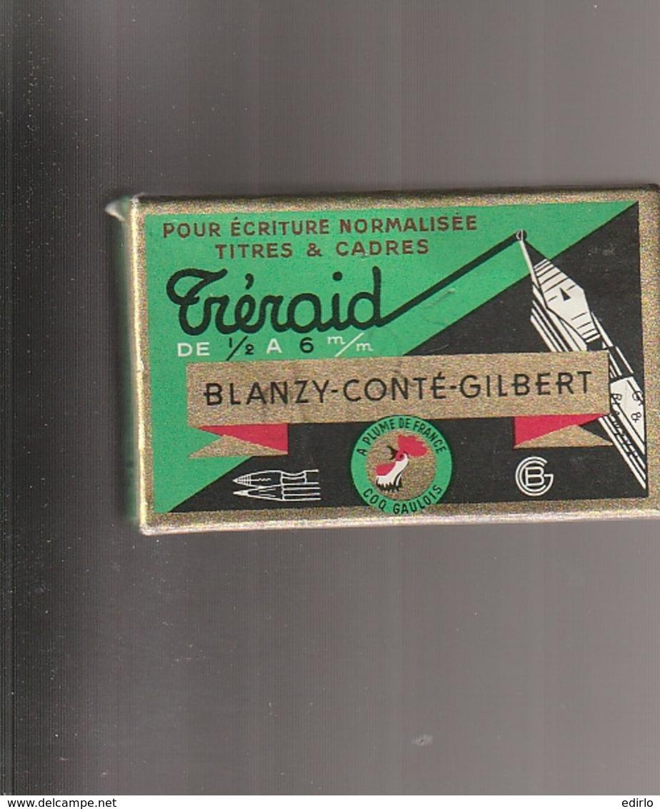***  BOITE DE 36 PLUMES *** Blanzy Conté Gilbert TRERAID  Fermé D'origine Et Donc Complete -plumes à Palette 1,5m/m TTBE - Plumes