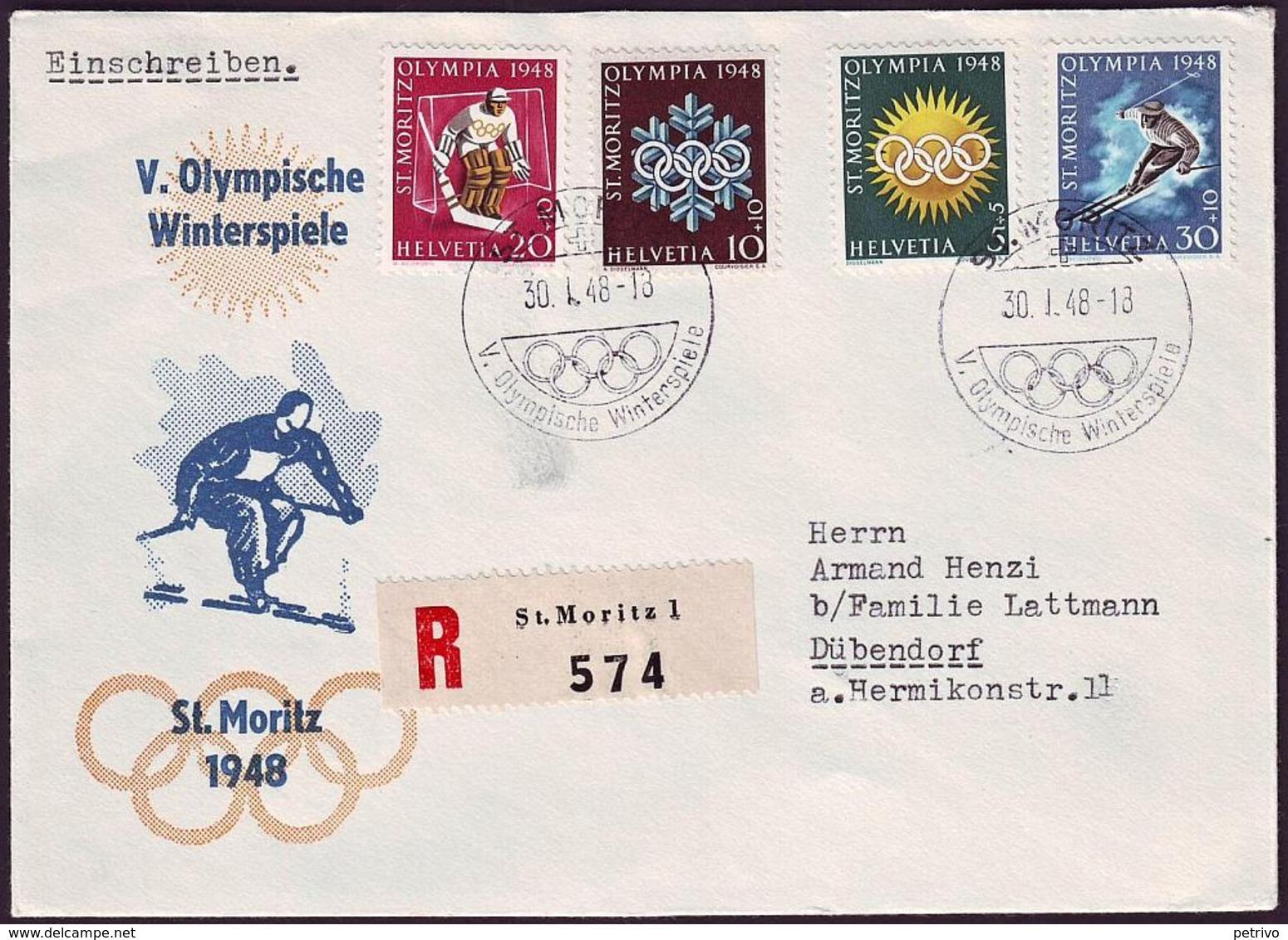 Switzerland - 1948 D - Winter Olympic Games 1948 - Cover - Winter 1948: St-Moritz