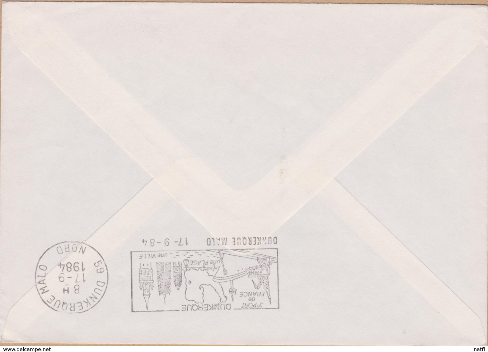 ENVELOPPE TIMBRE  1984 EXPO DES GIRONDINS DE BORDEAUX FOOTBALL CLUB CHAMPIONS DE FRANCE (BORDEAUX  A DUNKERQUE  MALO ) - Marcophilie (Lettres)