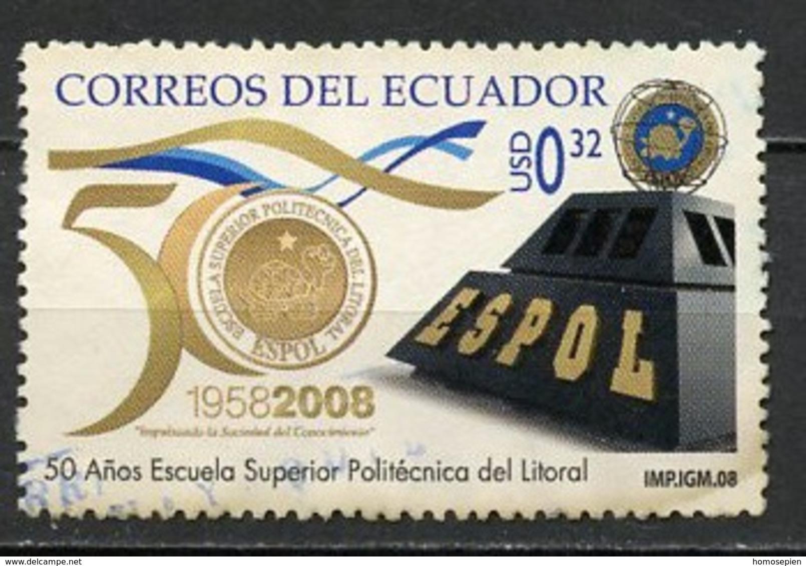 Equateur - Ecuador 2008 Y&T N°2097 - Michel N°(?) (o) - 0,32u école Polytechnique - Equateur