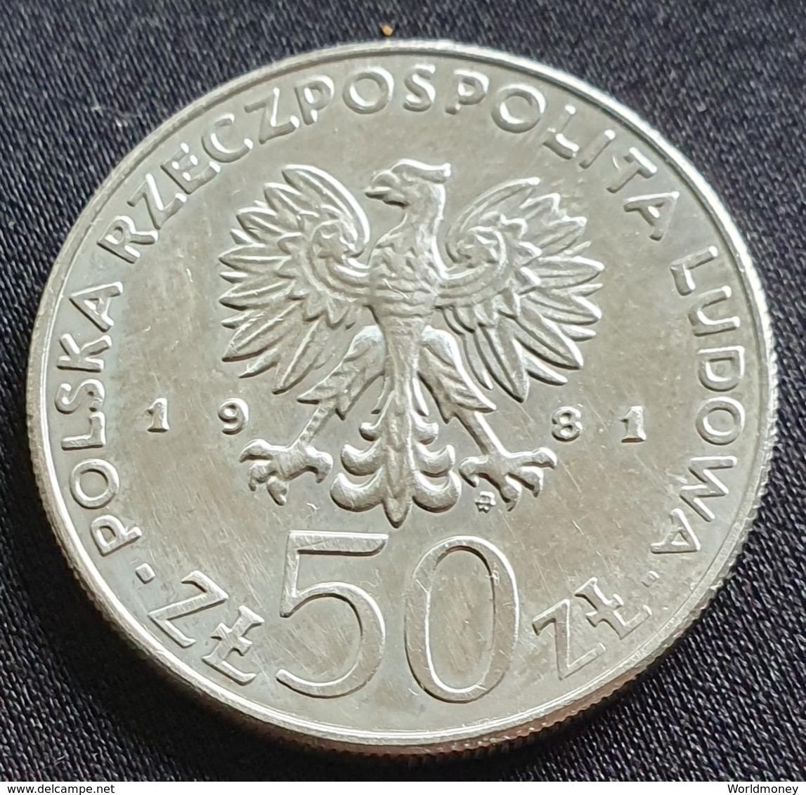 """Poland 50 Zlotych 1981 """"Władysław I Herman""""  - UNC - Pologne"""