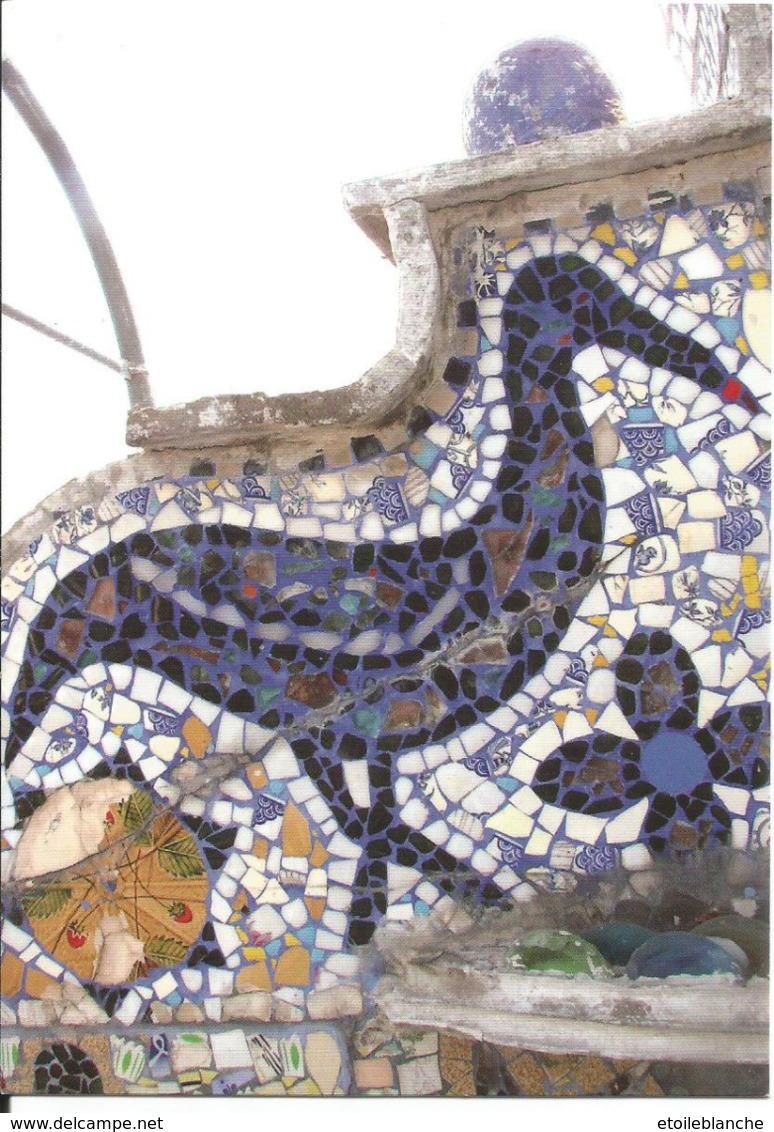 Art Naïf, La Maison Bleue, Mosaïque, Euclides Da Costa, Dives Sur Mer (14) - Musée Monument Historique - Oiseau, Faïence - Arts