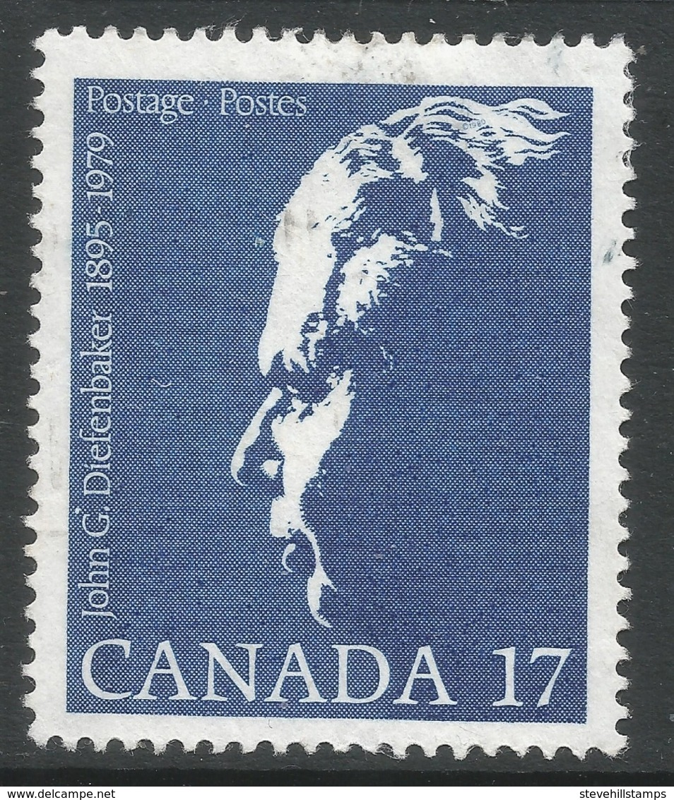 Canada. 1980 John  G Diefenbaker Commemoration. 17c Used. SG 982 - 1952-.... Reign Of Elizabeth II