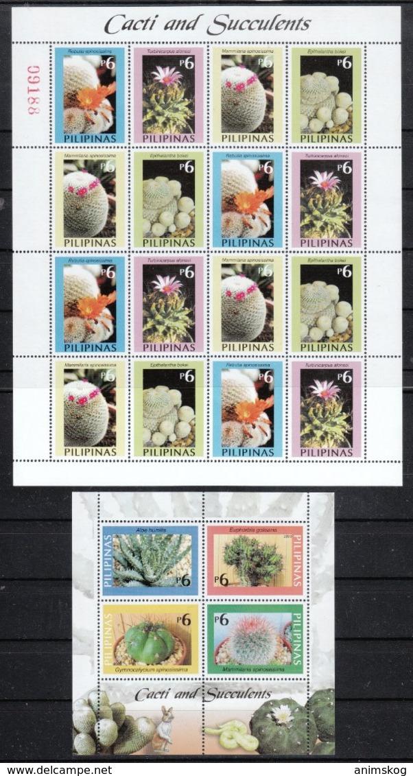 Philippinen 2003**, Kakteen Und Sukkulenten / Philippines 2003, MNH, Cacti And Succulents - Sukkulenten