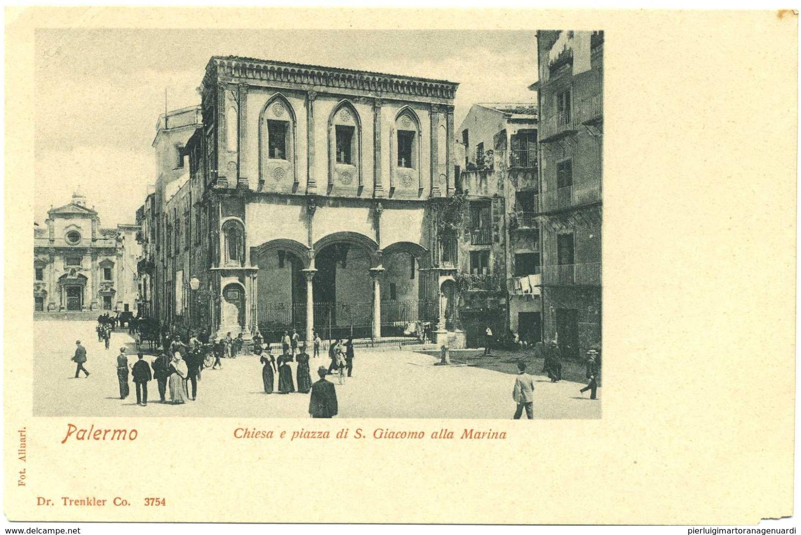14023 - Palermo - Chiesa E Piazza Di S. Giacomo Alla Marina - Palermo