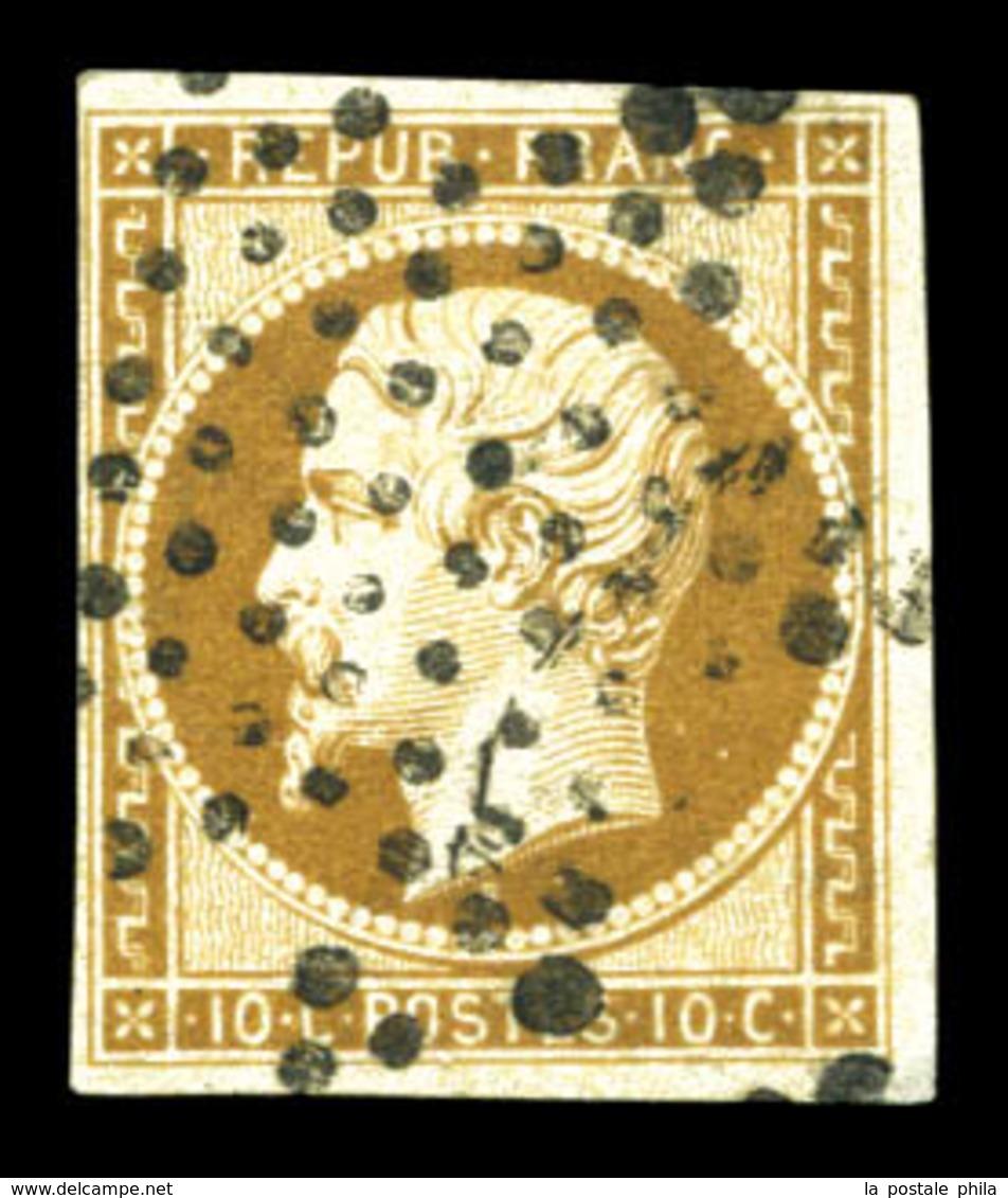O N°9, 10c Bistrebrun Obl étoile, TB (signé Brun/certificat)  Qualité: O  Cote: 950 Euros - 1852 Luis-Napoléon