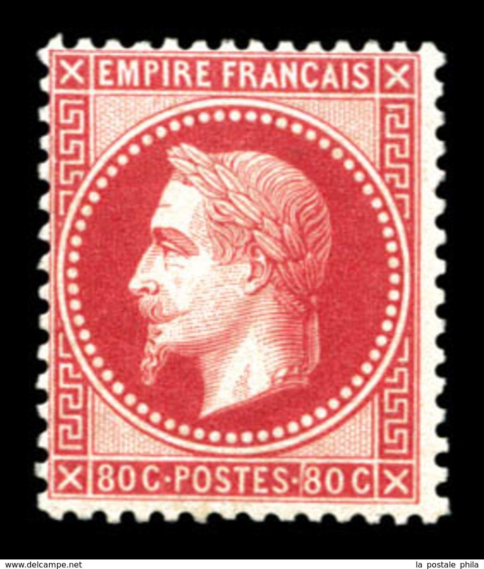 ** N°32d, 80c Rose Vif, Fraîcheur Postale. SUP (signé Brun/certificats)  Qualité: ** - 1863-1870 Napoléon III Lauré
