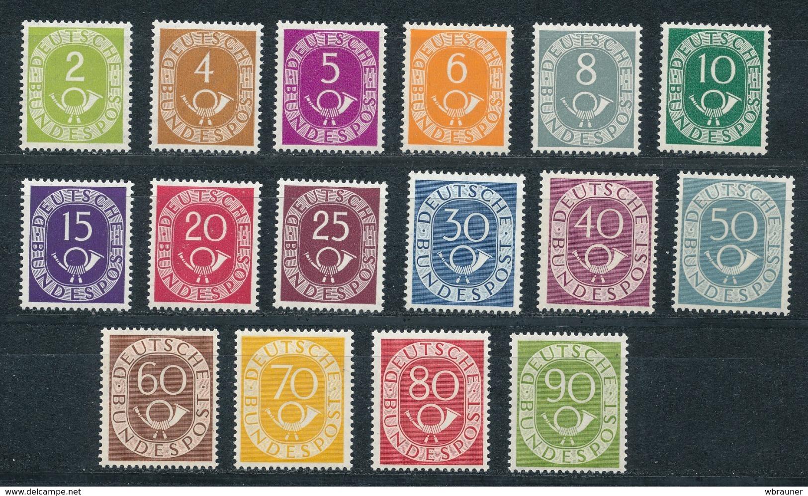 """Bund 123/38 Posthornsatz ** Fotoattest Schlegel """"einwandfrei"""" - [7] República Federal"""
