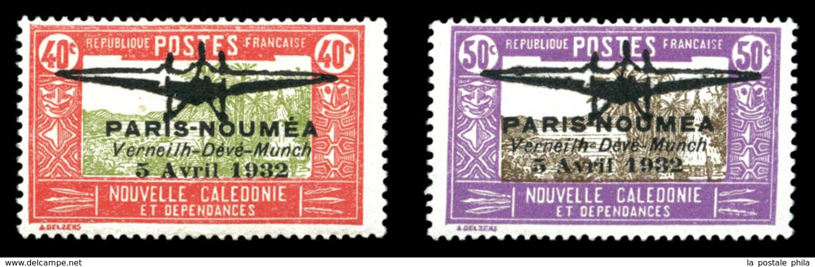 * N°1/2, 40c Rouge Et Olive Et 50c Lilas Et Sépia, La Paire B/TB(certificat)  Qualité: *  Cote: 1200 Euros - Nuevos