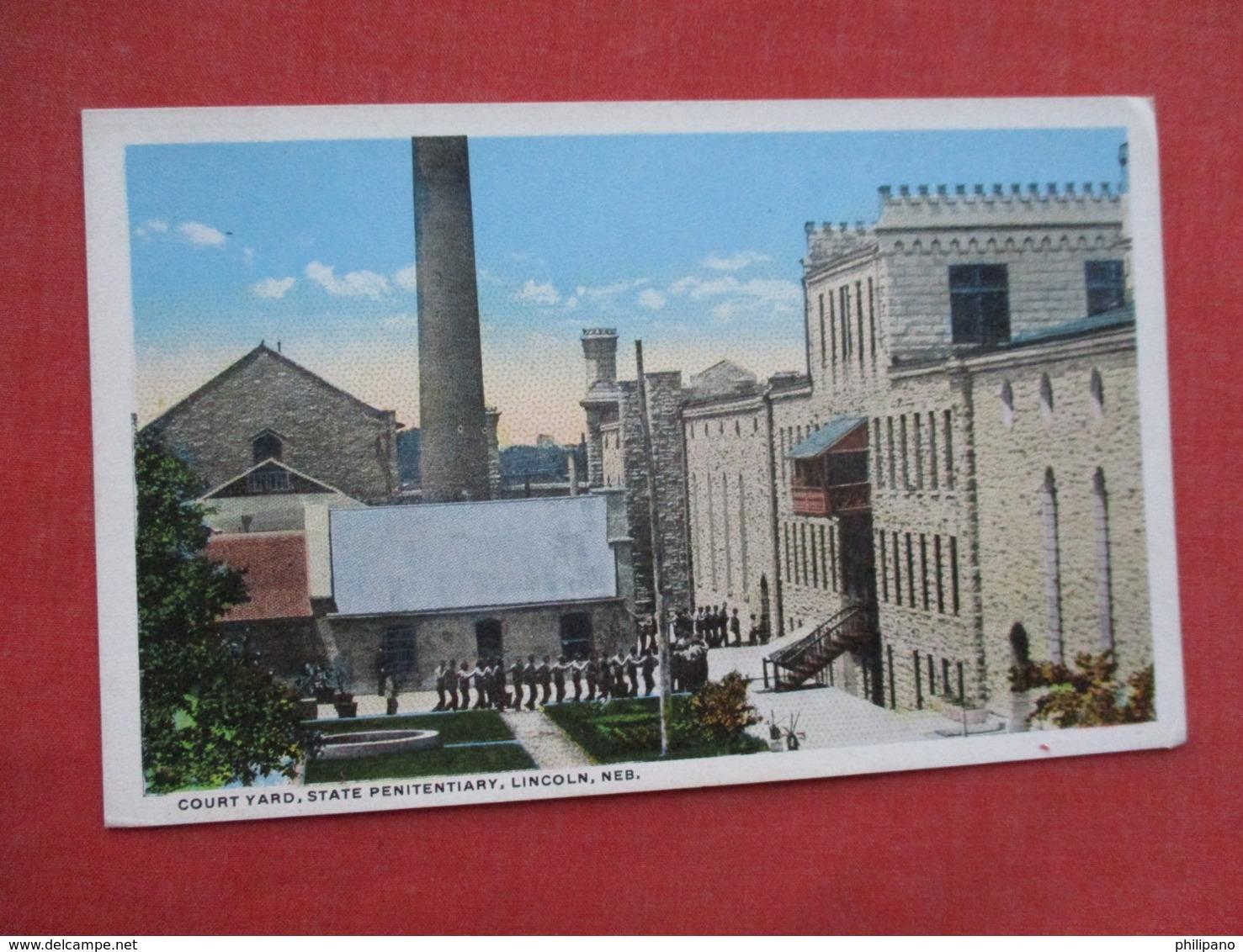 Court Yard State Penitentiary Lincoln Nebraska  Ref 3610 - Gevangenis