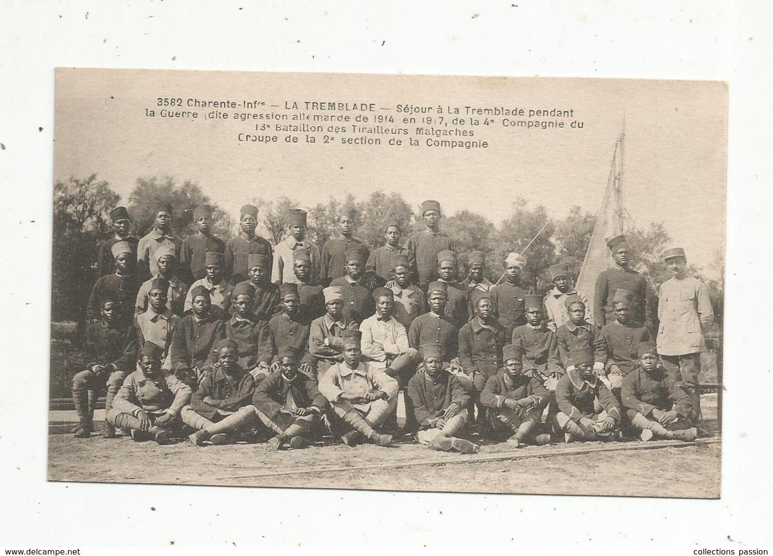 Cp, Les Tirailleurs MALGACHES à La TREMBLADE En 1917 , Charente Inférieure , Vierge , N° 3582 - Characters