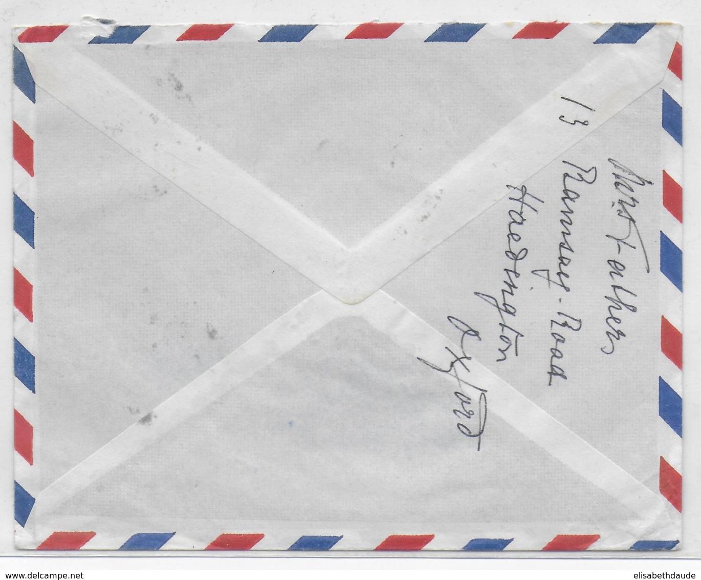 COTE DES SOMALIS - 1959 - ENVELOPPE Par AVION De DJIBOUTI => ST URSANNE (SUISSE) - Lettres & Documents