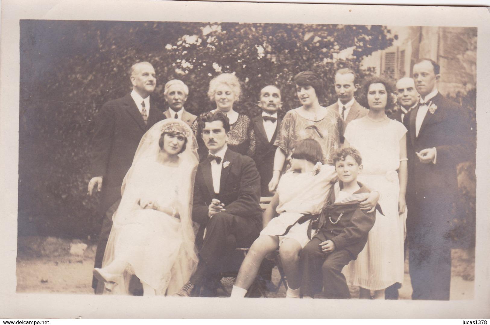 TRES JOLIE PHOTO MARIAGE AOUT 1922 / 14X9 - Noces