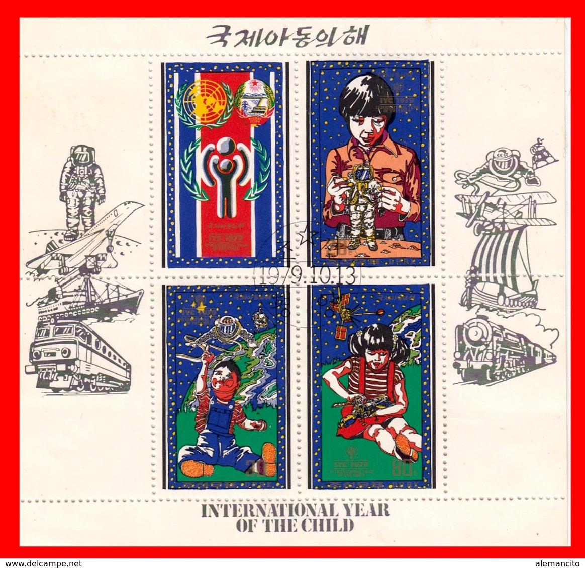 KOREA DEL HOJITA BLOQUE AÑO INTERNACIONAL DEL NIÑO AÑO 1979 - Corea (...-1945)