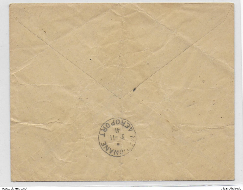 COTE DES SOMALIS - 1941 - ENVELOPPE SERVICES AERIENS SPECIAUX PENDANT LE BLOC De DJIBOUTI => MARIGNANE - Côte Française Des Somalis (1894-1967)
