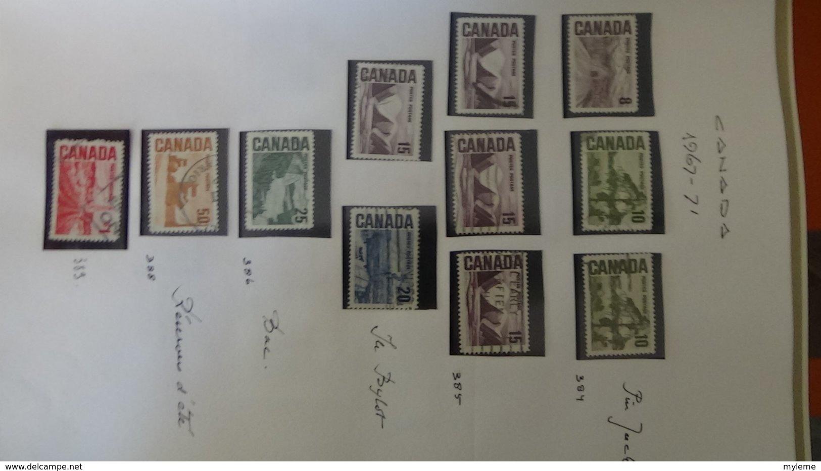 Collection Du CANADA En DAVO. A Saisir !!! - Timbres