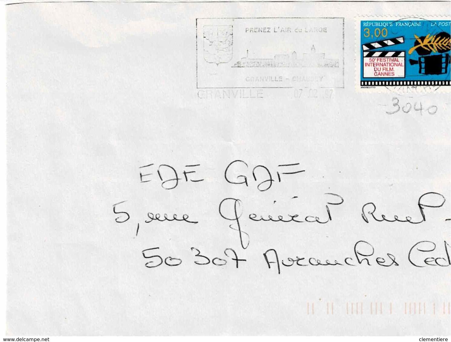 TP  3040 Seul  Sur Enveloppe De Granville - 1961-....