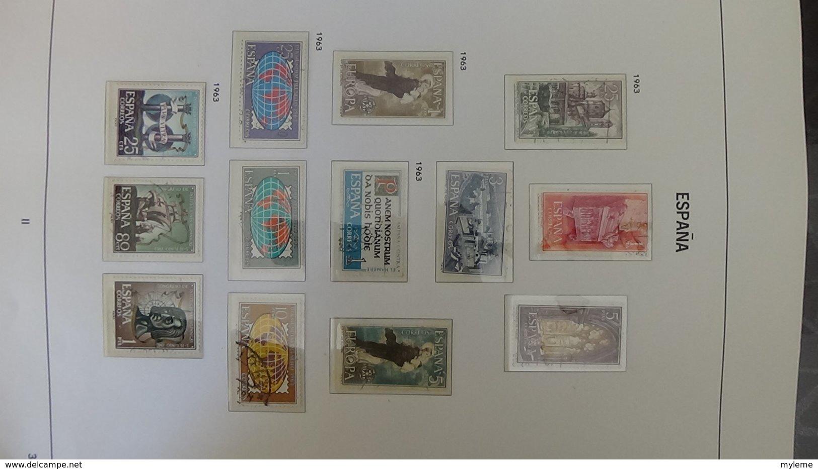 Collection ESPAGNE En DAVO De 1961 à 1979. A Saisir !!! - Timbres