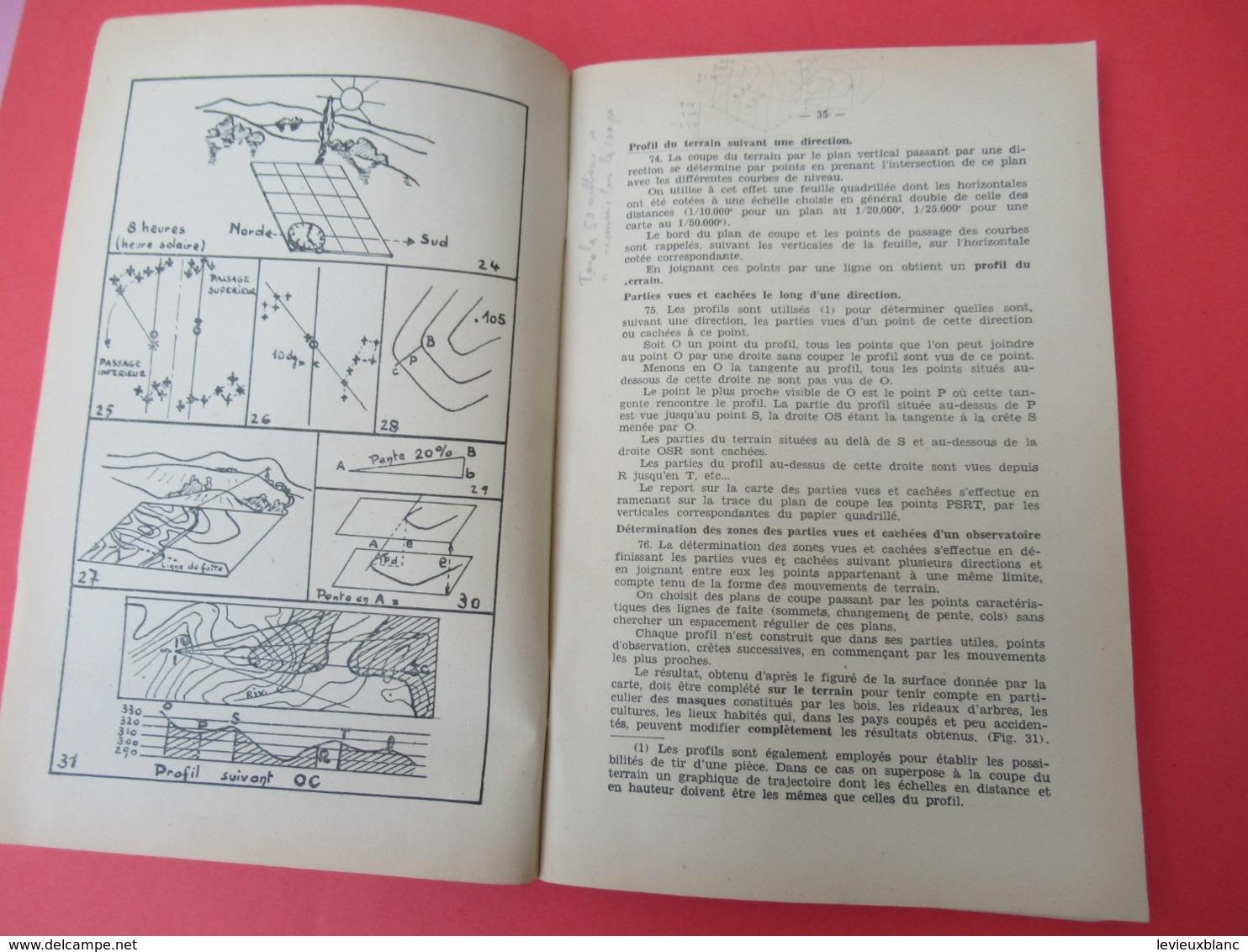 Livre/ Réglement De Topographie/ E.S.A.A./Ecole De Spécialisation De L'Artillerie Anti-Aerienne/1956              LIV177 - Boeken