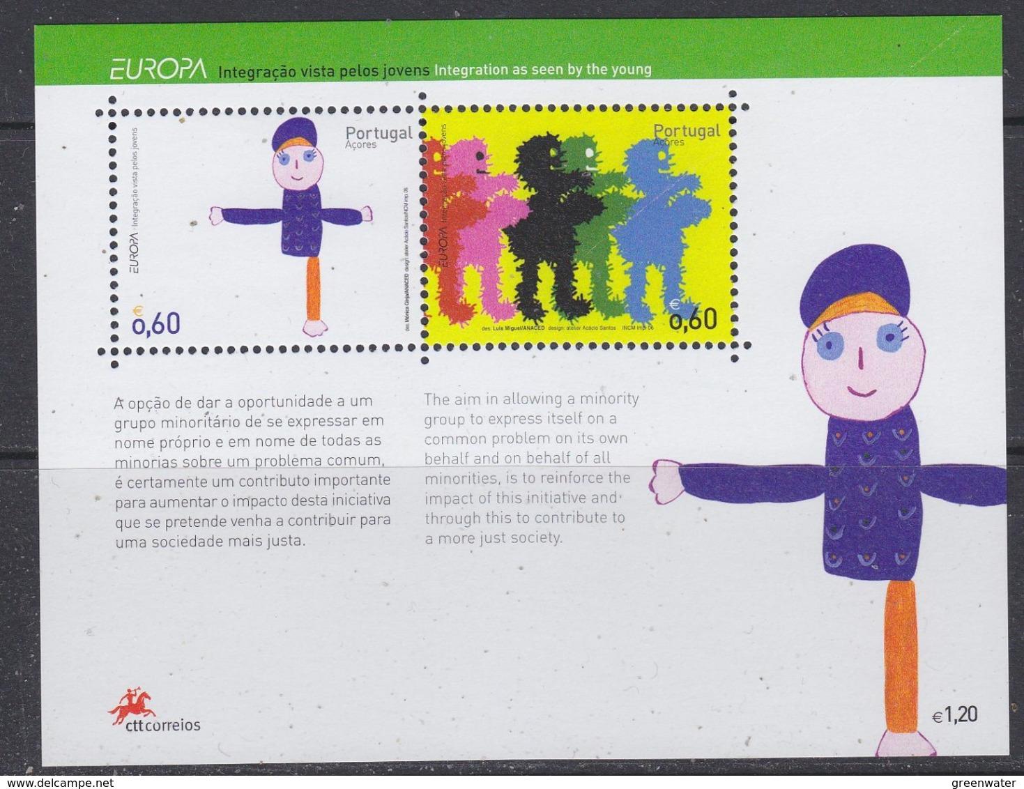 Europa Cept 2006 Azores M/s ** Mnh (44693) @ Face - Europa-CEPT