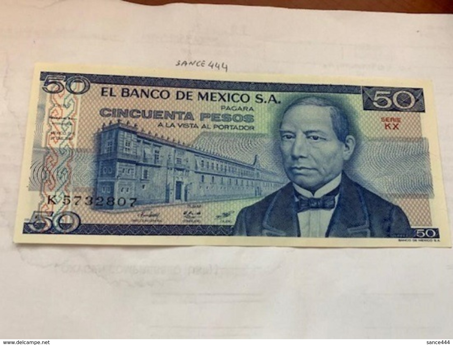 Mexico 50 Pesos Unc. Banknote 1981 - Mexico