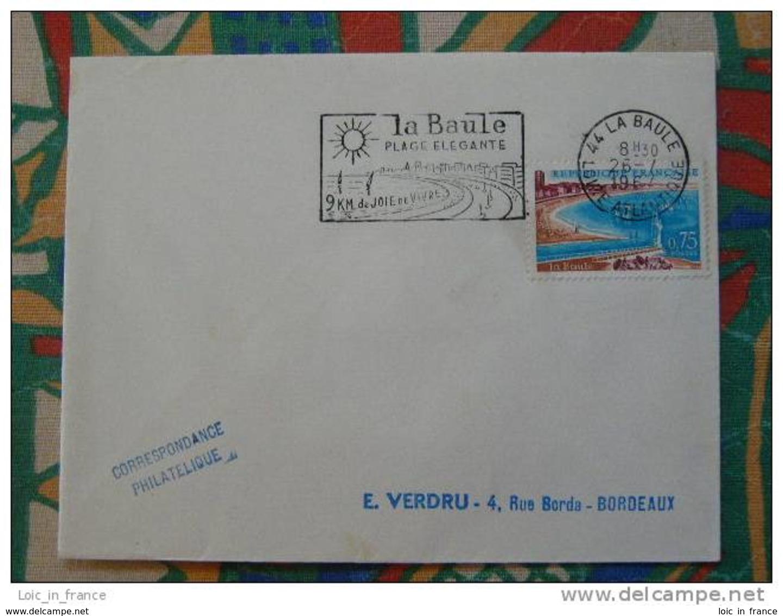 Flamme Concordante Slogan Meter La Baule Plage Elegante Loire Atlantique - Marcophilie (Lettres)