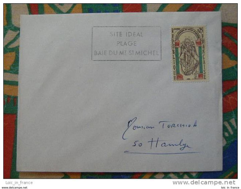 Flamme Concordante Slogan Meter Mont Saint Michel St Jean Le Thomas Manche - Marcophilie (Lettres)