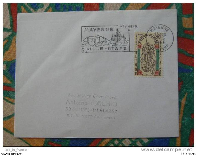 Flamme Concordante Slogan Meter Mont Saint Michel Mayenne - Marcophilie (Lettres)