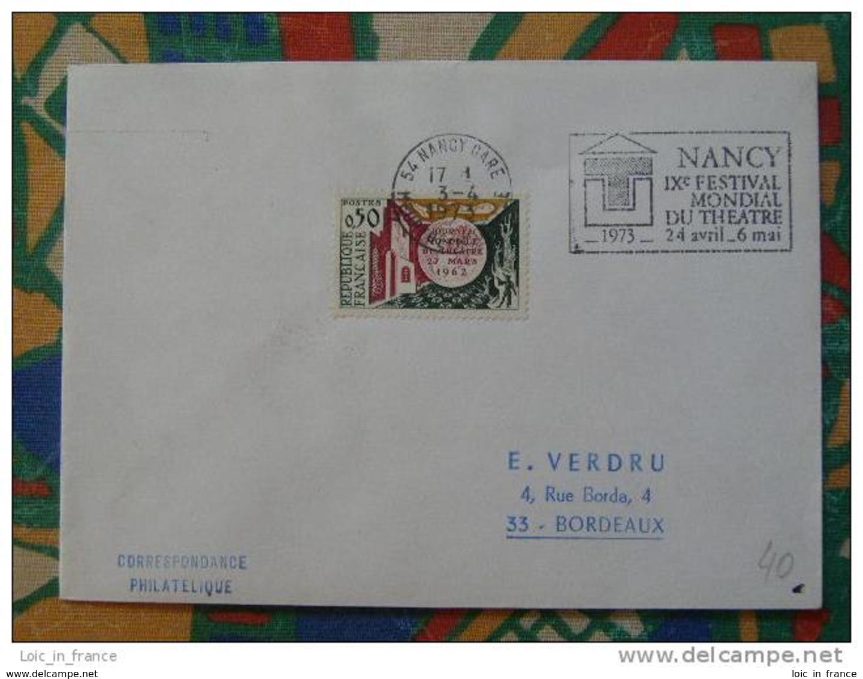Flamme Concordante Slogan Meter Théatre Theater Nancy - Marcophilie (Lettres)