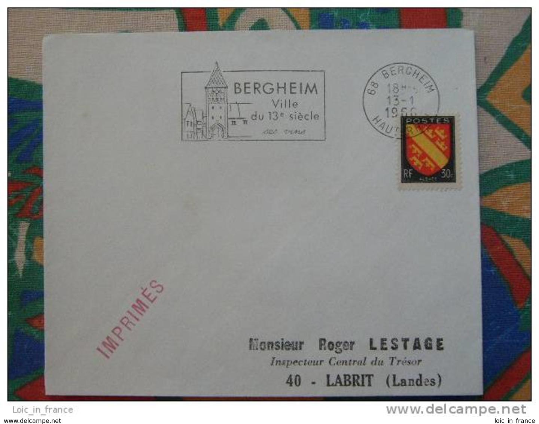 Flamme Concordante Slogan Meter Bergheim Ses Vins Haut Rhin - Marcophilie (Lettres)