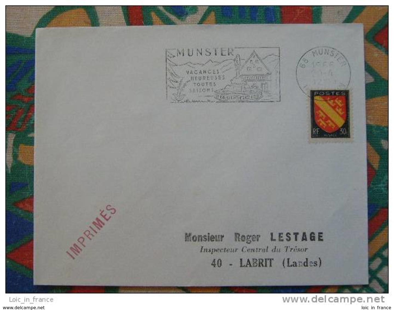 Flamme Concordante Slogan Meter Munster Vacances Heureuses Haut Rhin - Marcophilie (Lettres)