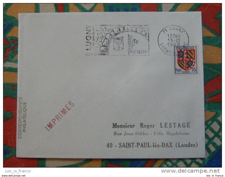 Flamme Concordante Slogan Meter Cluny Site St Pierre Saone Et Loire - Marcophilie (Lettres)
