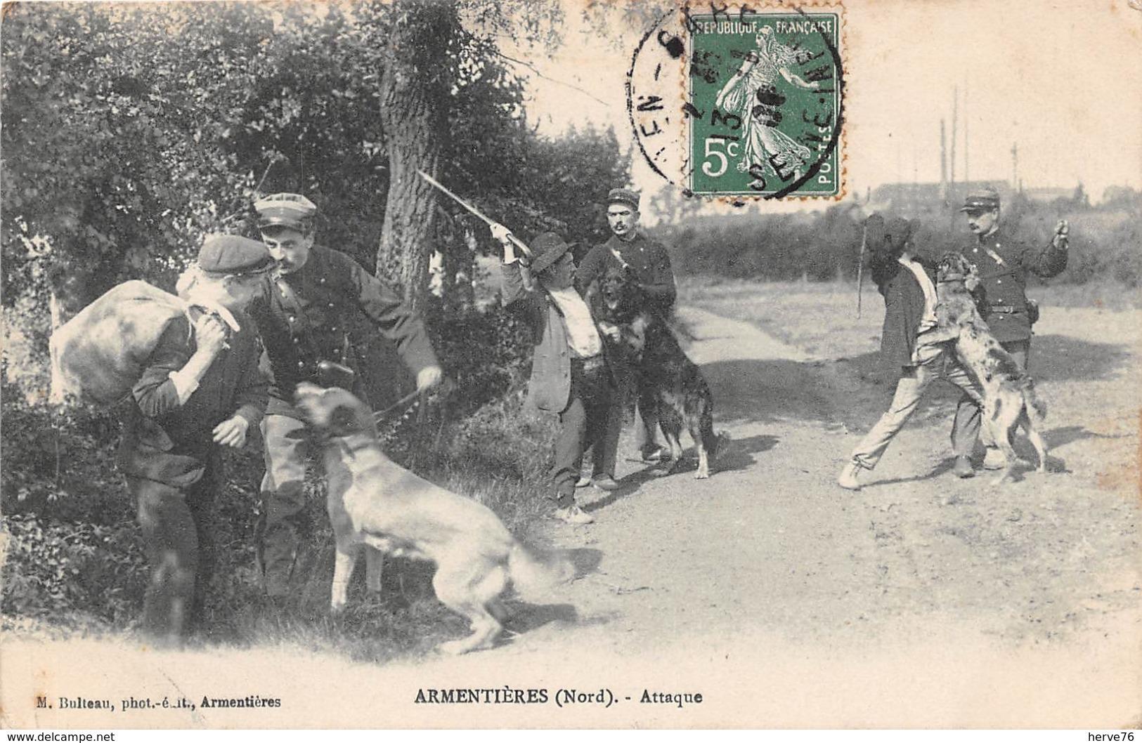 ARMENTIERES -  Attaque - Douaniers - Douane - Armentieres