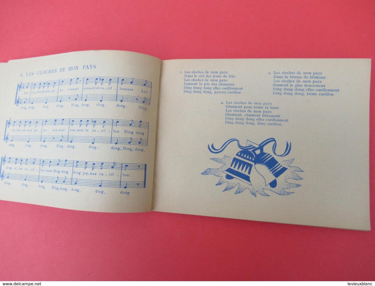 Livrede Chants / CIELS De FRANCE/ Chansons Inédites De Francine COCKENPOT/Ed Du Seuil//1947           PART272 - Music & Instruments