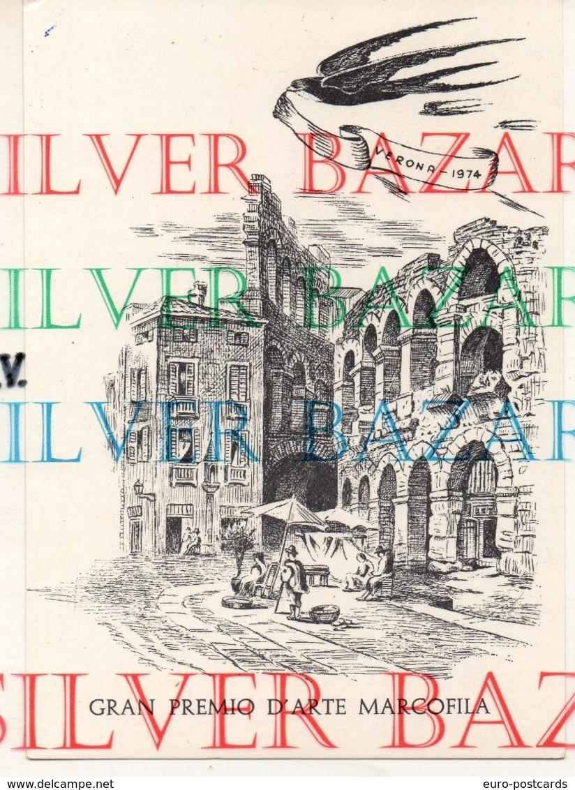 GRAN PREMIO D'ARTE MARCOFILA - VERONA 17 NOVEMBRE 1974 - ARENA PIAZZA BRA - ASSOCIAZIONE FILATELICA SCALIGERA - Briefmarken (Abbildungen)