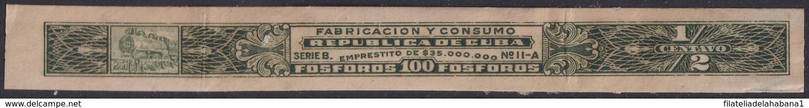 REP-349 CUBA REPUBLICA REVENUE MATCHES FOSFOROS IMPORTACION TAX - Timbres-taxe