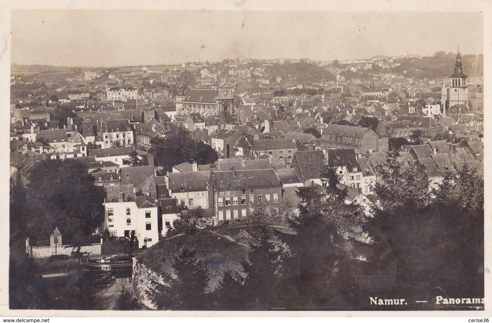 Photo Carte De Namur Panorama Circulée En 1935 Avec Taxe Voir Verso - Namur