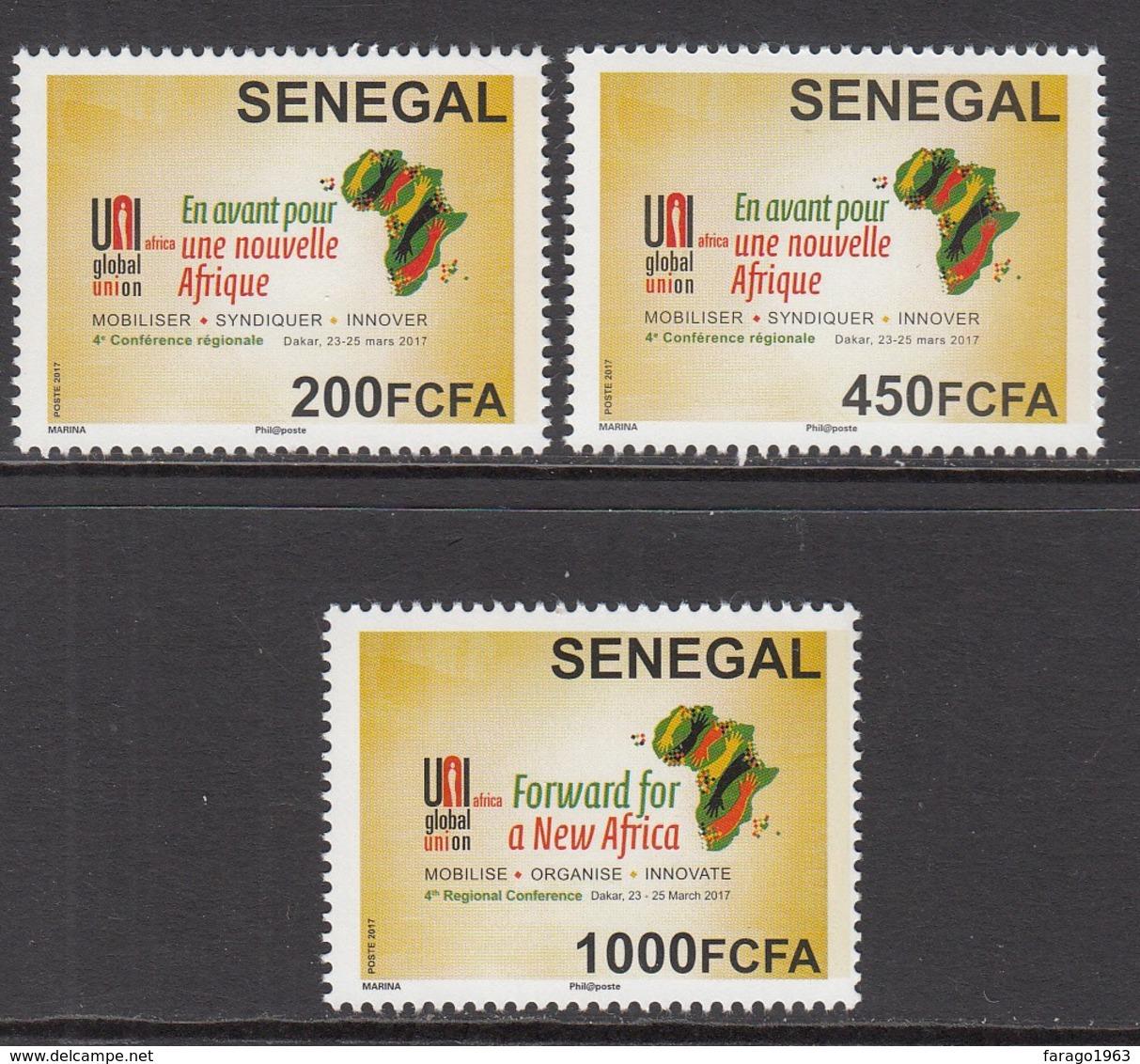 2017 Senegal UNIafrica Conference Dakar Complete Set Of 3 MNH - Senegal (1960-...)