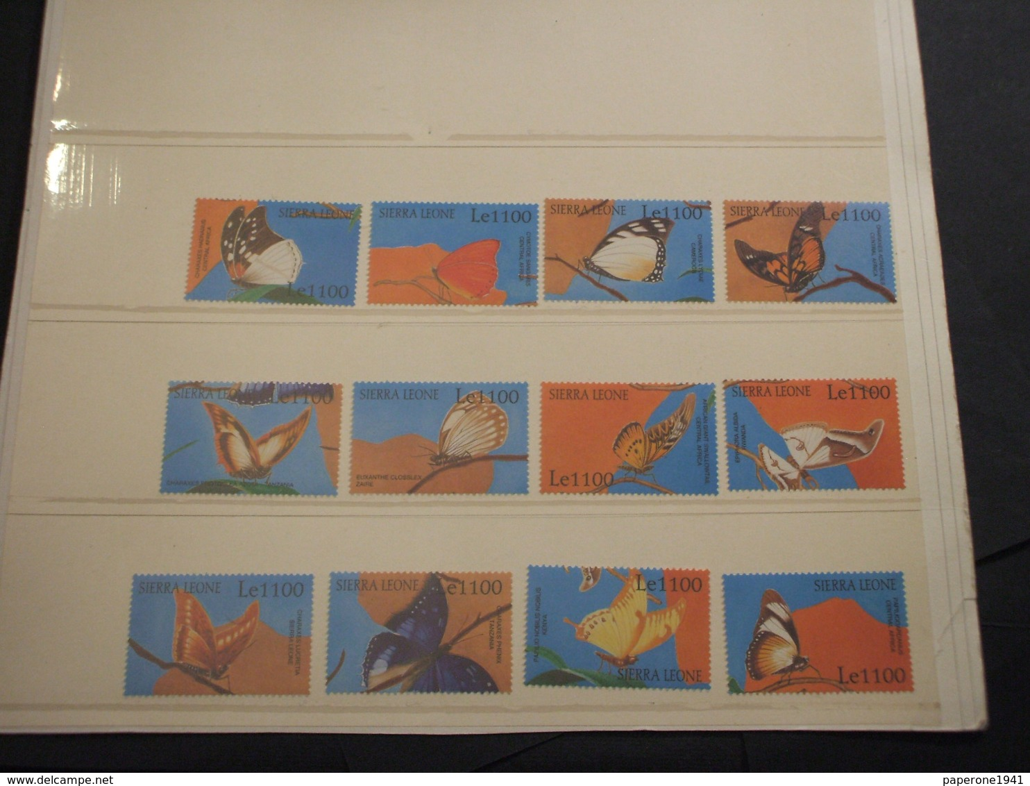 SIERRA LEONE - 2001 FARFALLE 6 + 6  VALORI - NUOVI(++) - Sierra Leone (1961-...)