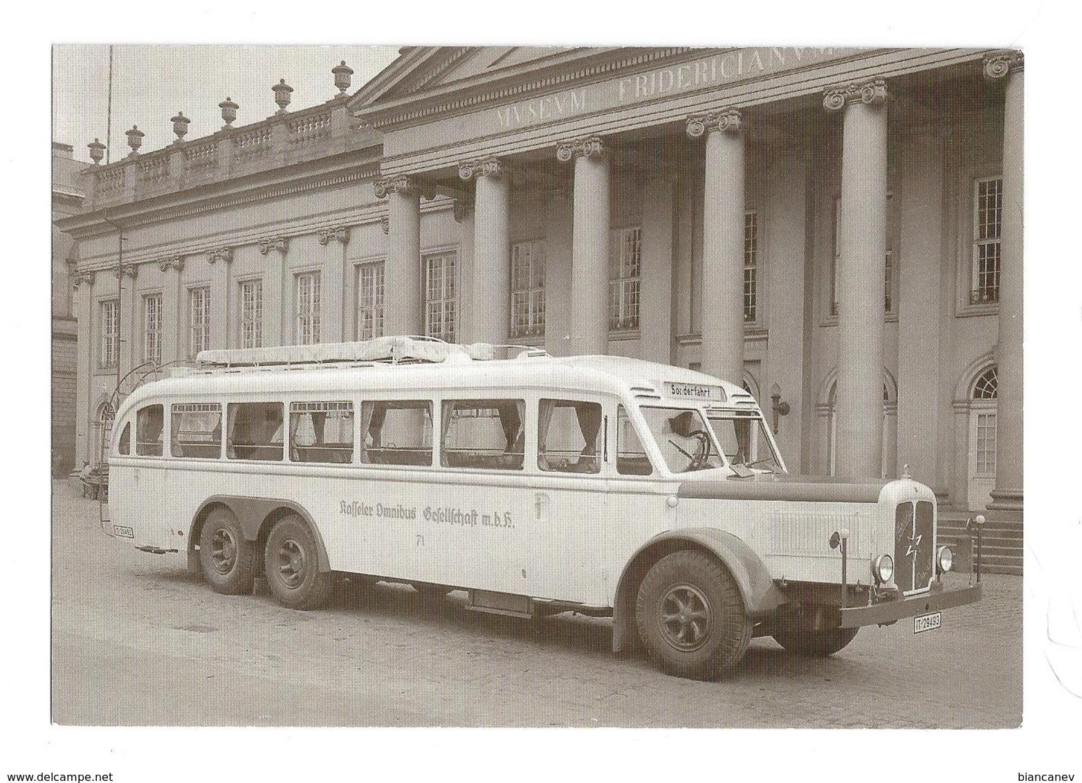 CARTOLINA AUTOBUS HENSCHEL - 4 - Autobus & Pullman