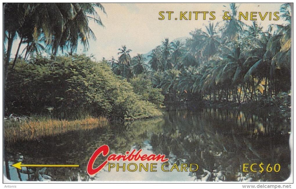 ST. KITTS & NEVIS(GPT) - River Scene, CN : 5CSKC, Tirage 5250, Used - Saint Kitts & Nevis