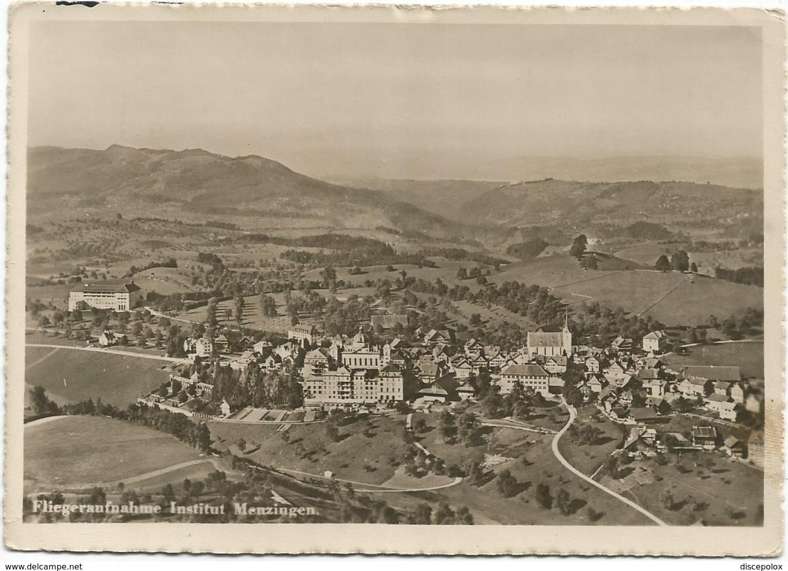 W4679 Fliegeraufnahme Institut Menzingen / Viaggiata 1951 - ZG Zoug
